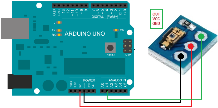 Arduino TEMT6000 Ambient Light Sensor