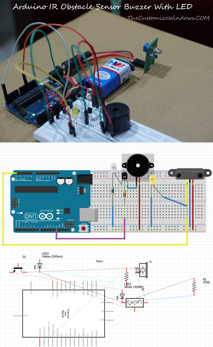 Arduino-IR-Obstacle-Sensor-Buzzer-With-LED