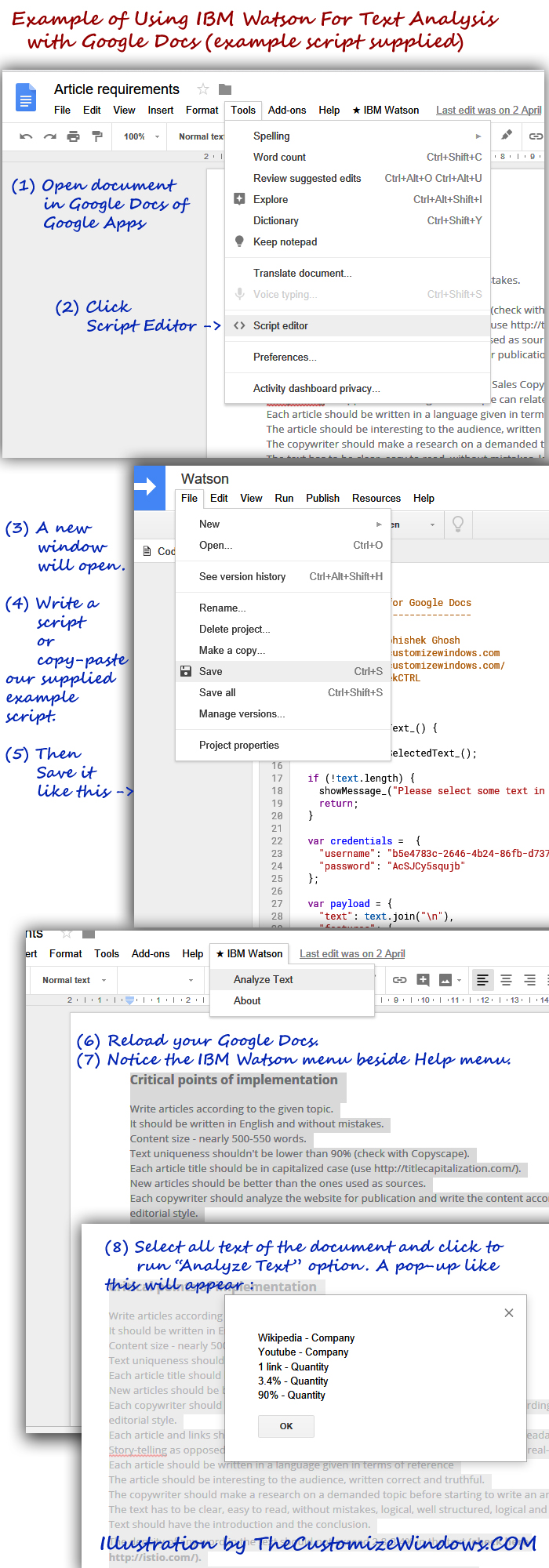 Example-of-Using-IBM-Watson-For-Text-Analysis-with-Google-Docs