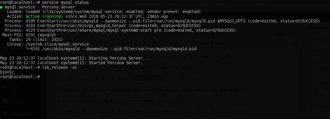 Steps to Install Percona MySQL Server on Ubuntu 18-04 LTS