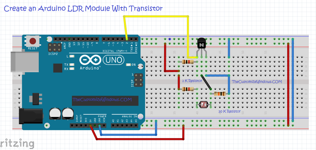 Create an Arduino LDR Module With Transistor