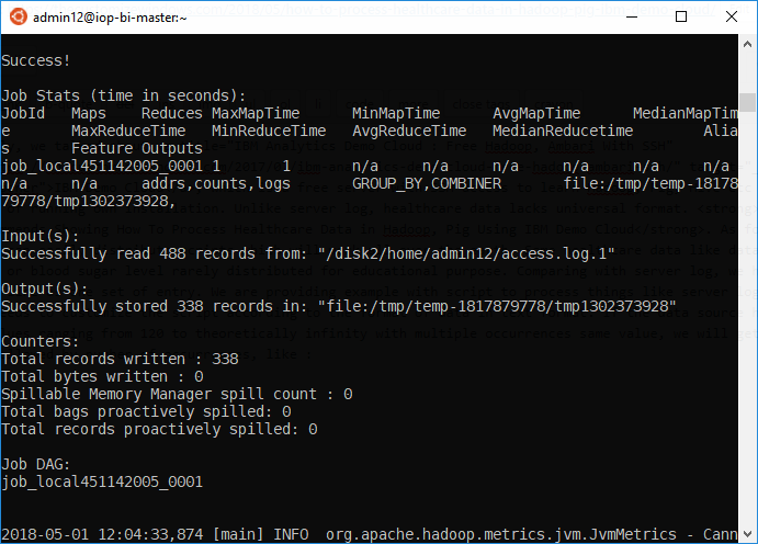 How To Process Healthcare Data in Hadoop Pig