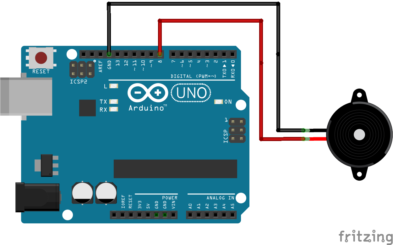 Blink LED and Beep Every 1 Second With Arduino