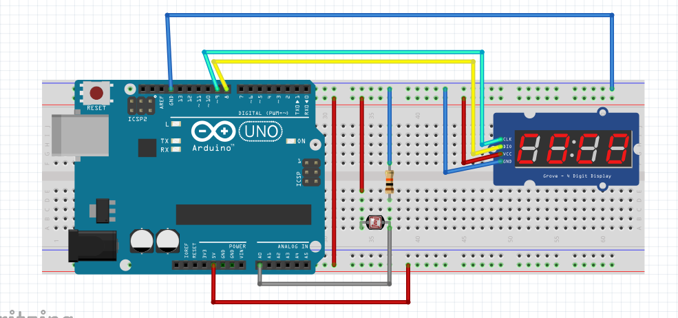 LDR Reading on TM1637 Example How To Print Analog Sensor Value