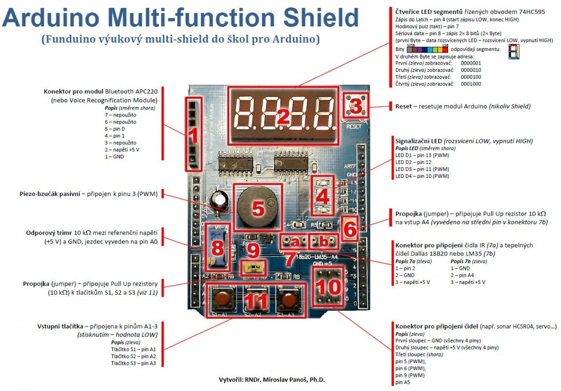 Arduino Multi-Functional Shield For Quick Prototyping