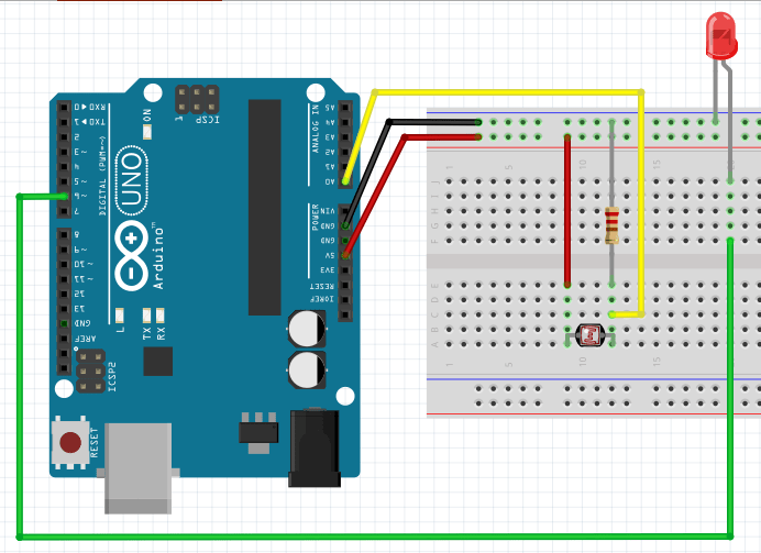 Arduino LED Blink Rate Control With LDR