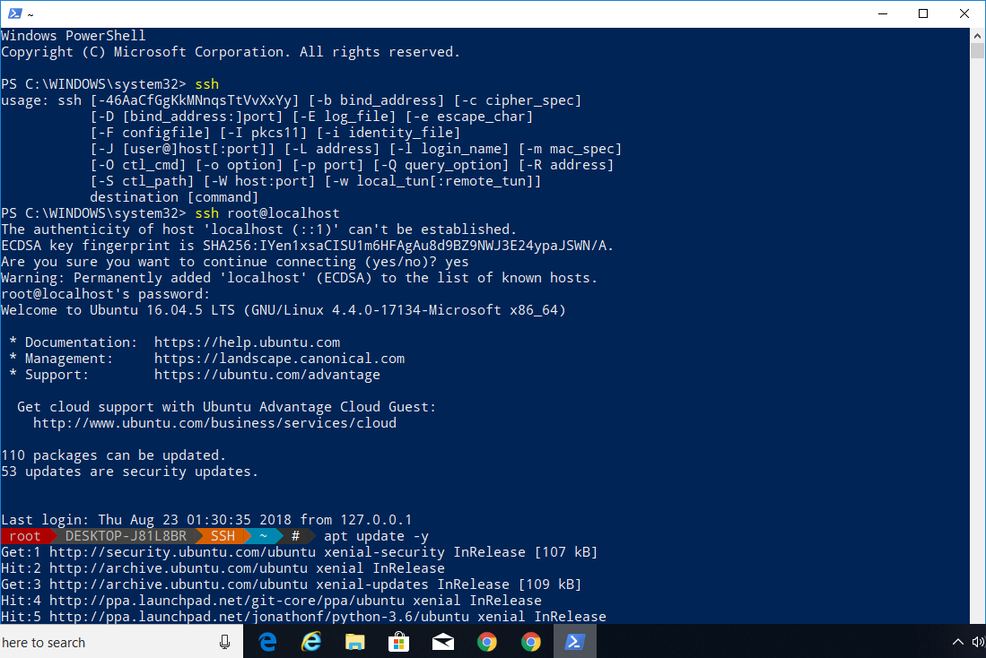 How To Use Windows 10 PowerShell To Access Ubuntu Bash