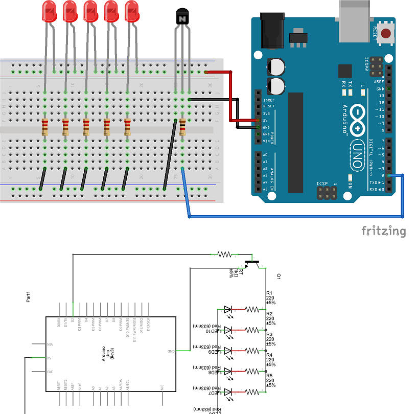 How to Connect Multiple LEDs With One Arduino Pin Series Connection