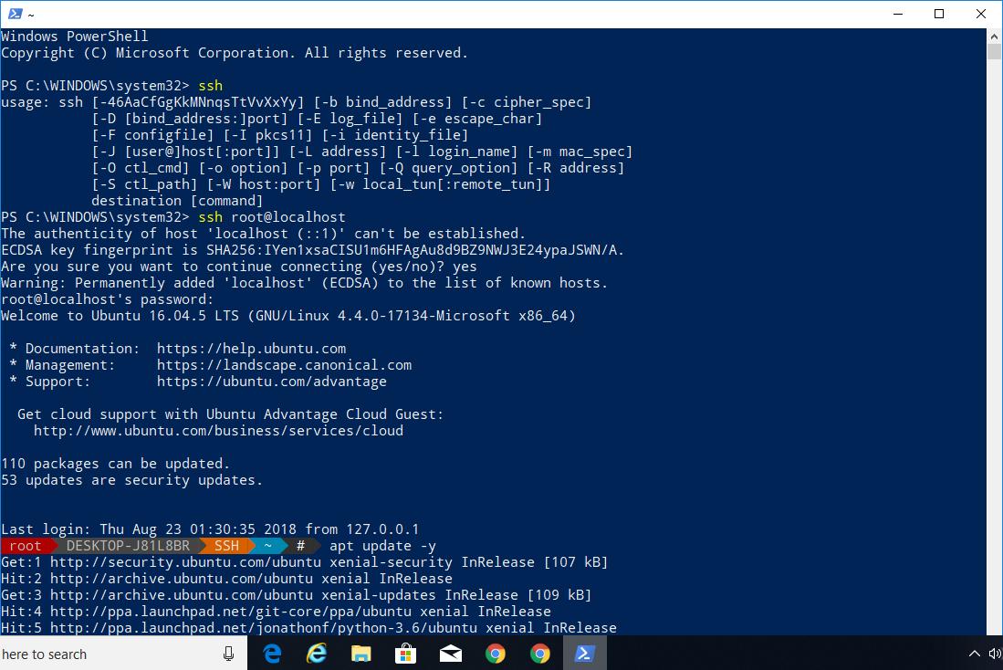 How To Use Windows 10 PowerShell To Access Ubuntu Bash