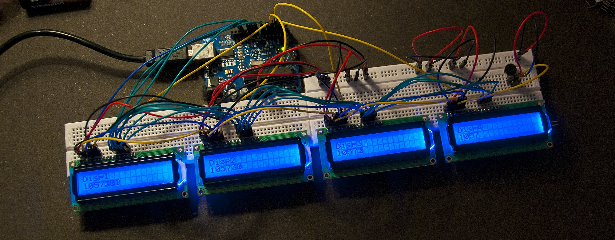 Running Multiple LCD Displays On One Arduino UNO