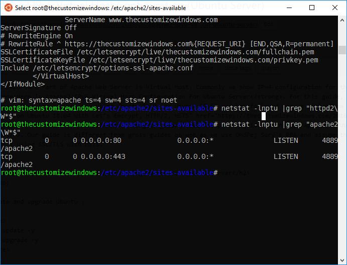 Apache2 IPv6 Virtual Host Configuration Ubuntu Server