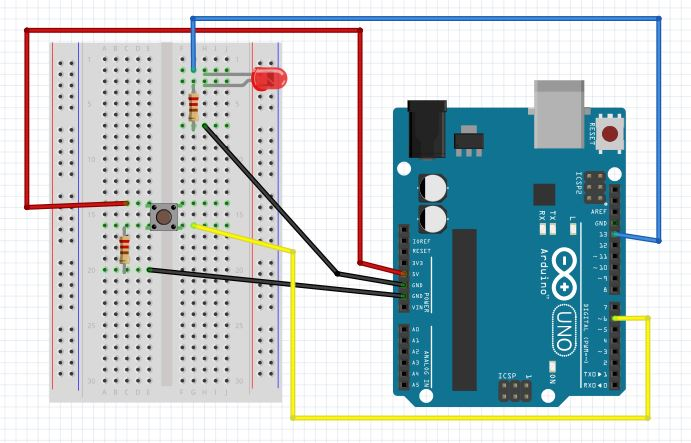 Arduino Blink LED Rate Depending On Push Button Press Duration