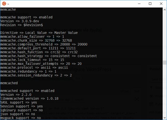 How To Install Memcached on Ubuntu Server And Configure WordPress