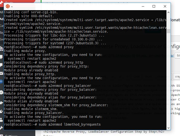 Ubuntu 18-04 Apache Reverse Proxy Loadbalancer Configuration Step by Step