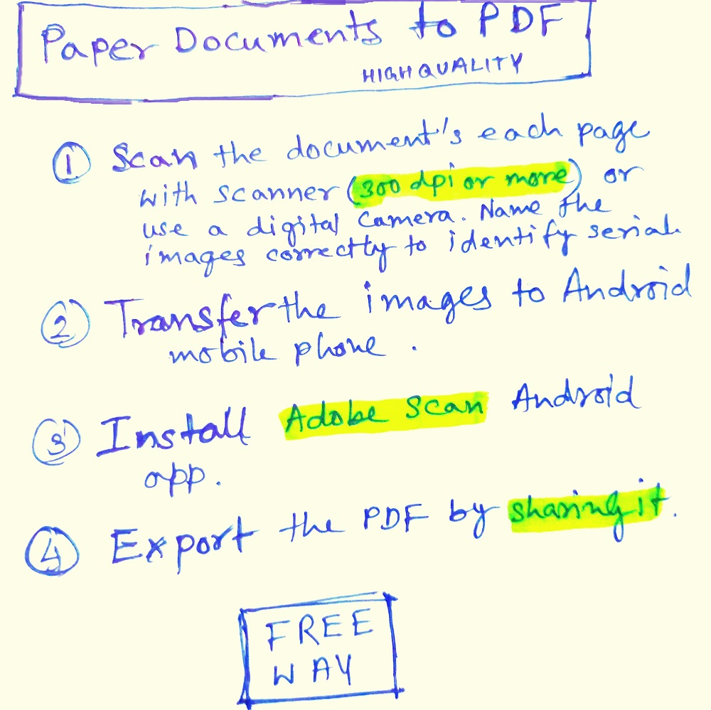 How to Convert Paper Documents to PDF