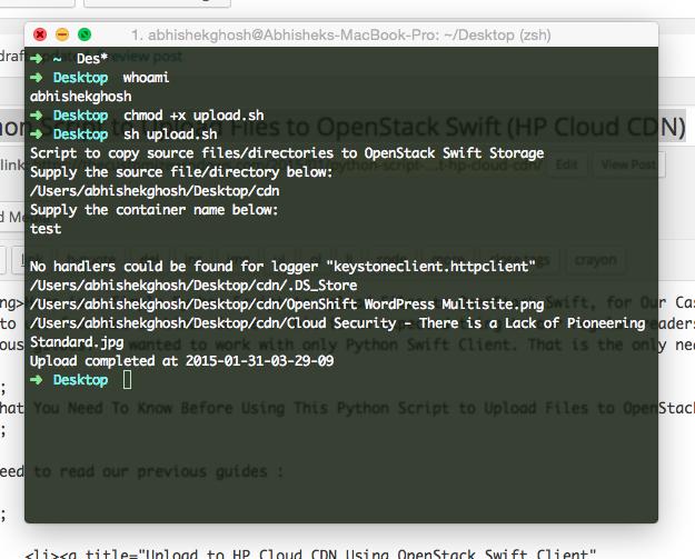 Upload to IBM Cloud CDN Using OpenStack Swift Client