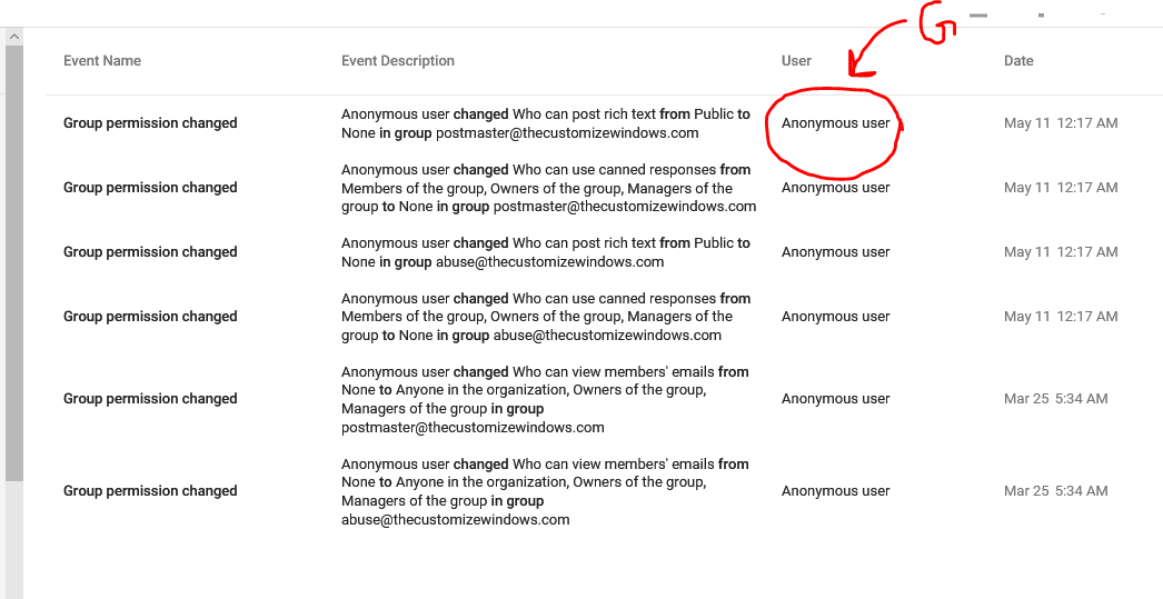 gsuite username is a reserved word Error