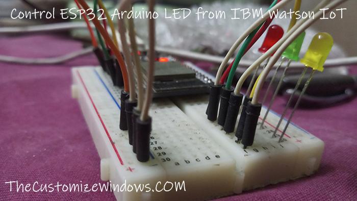 Control ESP32 Arduino LED from IBM Watson IoT