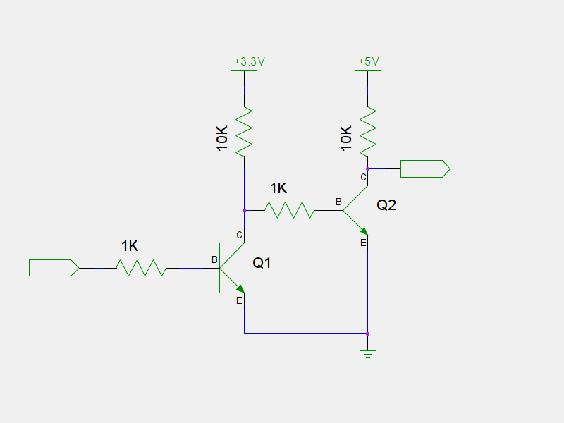 Simple Level Shifter With Transistor