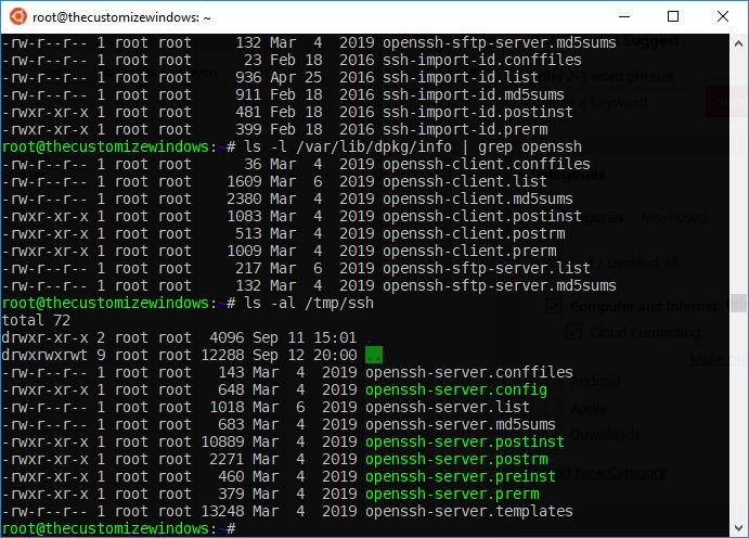 Fix openssh-server E Sub-process usr-bin-dpkg returned an error