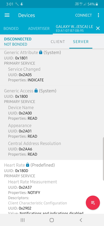 Samsung Smartwatch as Proximity Switch
