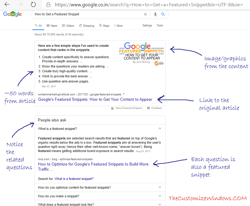 How to Get a Featured Snippet on Google Search Result