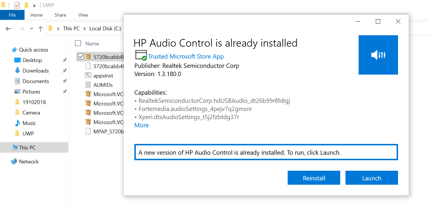 Fix Missing B&O Audio App in HP x360