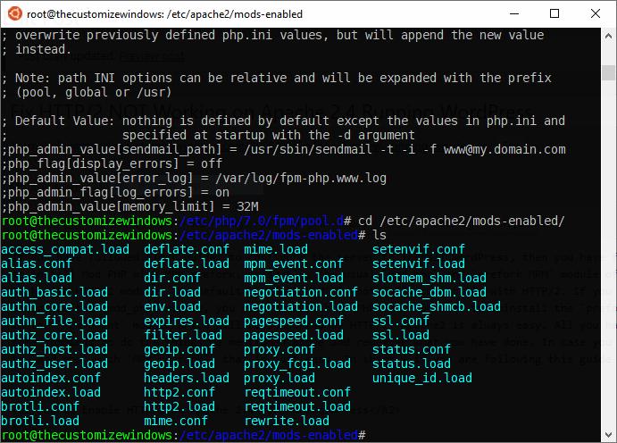 Fix HTTP2 NOT Working on Apache 2-4 Running WordPress