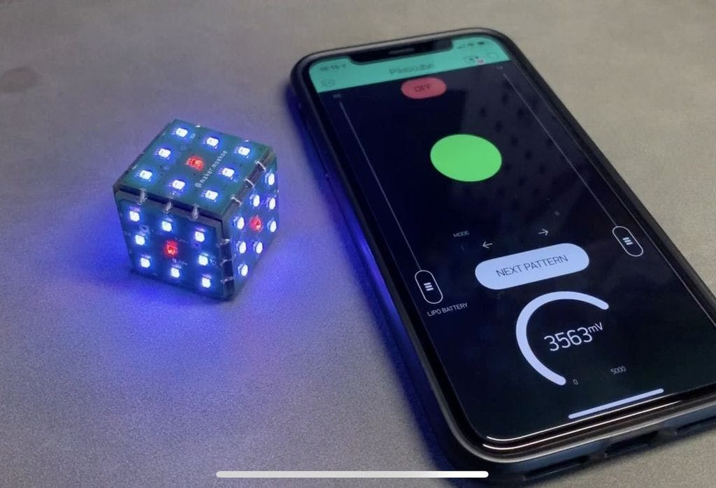 Pikocube ESP8285 MCU Powered PCB LED Cube With Gyroscope