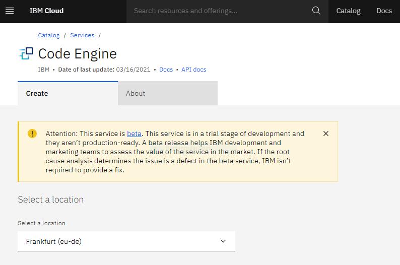 IBM Cloud Code Engine Basics