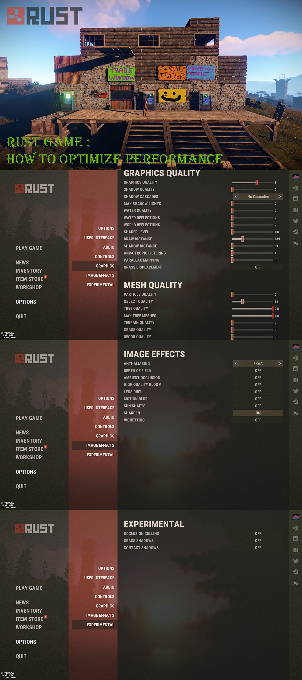 Rust Game How to Optimize Performance Settings