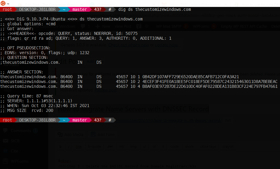 How to Migrate Name Servers with DNSSEC Record